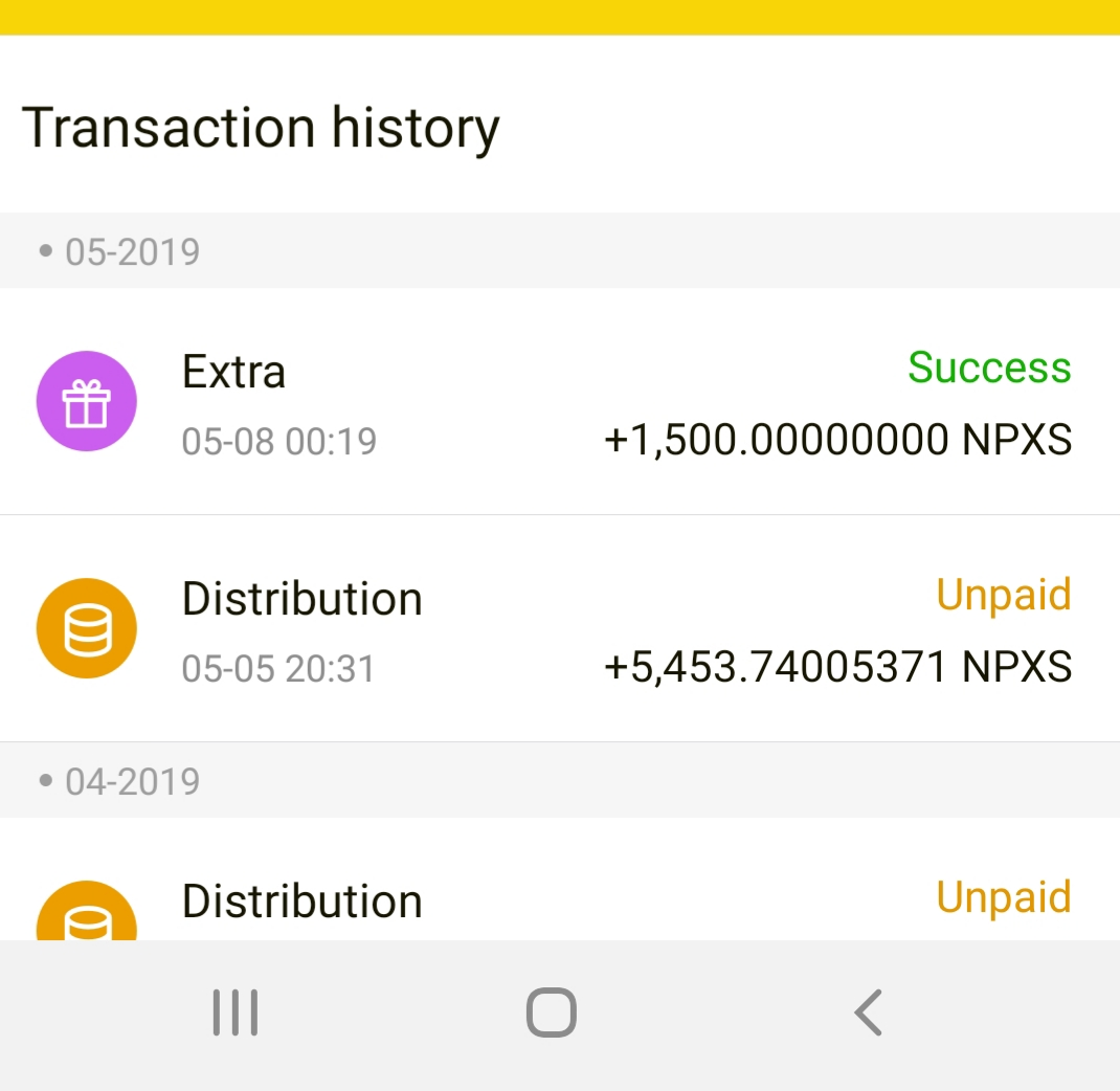 仮想通貨,NPXS,Wallet